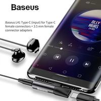 BASEUS AUDIO CONVERTER CABLE L41 TYPE-C FEMALE+3.5 MM FEMALE ADAPTERS