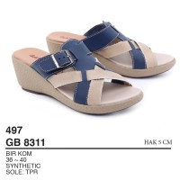 Garsel Shoes - Sandal Slipper Wedges GB 8311 BIRKOM