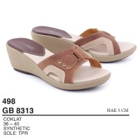Garsel Shoes - Sandal Slipper Wedges GB 8313 COKLAT