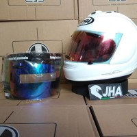 Arai RX7 RR5 White - Iridium Red, Rainbow