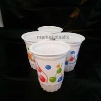 Gelas plastik/gelas /gelas ultah/gelas minum/ Gelan balon warna @50pcs