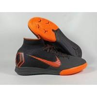 Sepatu Futsal Mercurial Superfly X VI Elite Black Orange Replika Impor
