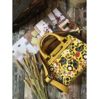 NORIKO SMALL LEATHER PAINTING AND CARVING YELLOW (PREORDER)