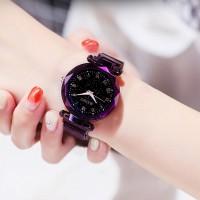 MEIBO Magnetik Nyala Malam Jam Tangan Wanita Women Quartz Watch Angka