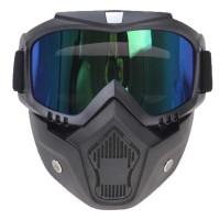 Kacamata Goggle Helm Masker Motor Set Paintball Airsoftgun Trail Cros