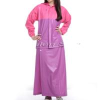Jual jas hujan wanita rok original + bahan PVC sambungan press 6600 7