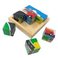puzzle kubus transportasi