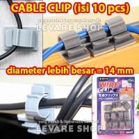Klip Kabel Laptop Komputer Rapi Jepit Cable Clip - isi 10 pcs Besar