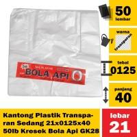Kantong Plastik Transparan Sedang 21x0125x40 50lb Kresek Bola Api GK28