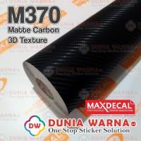 MAX DECAL PREMIUM MATTE CARBON 3D VINYL STICKER WRAP VARIASI MOBIL