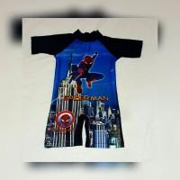 baju renang anak Tk _ SD karakter tayo tobot spiderman diving anak