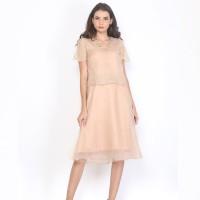 ATELIER MODE Cocktail Dress Crop Top A Line Whitney Dress Wanita