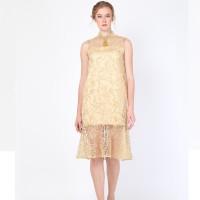 ATELIER MODE Cocktail Dress Light ruffles Brocade Biyu Dress Wanita