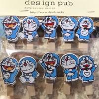1 set Wooden clip Hati minion hello kitty tsumtsum Doraemon