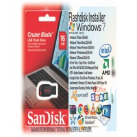 Flashdisk Installer Bootable Windows 7 & Driver Pack & Ms Office DLL