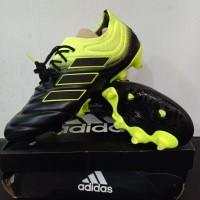 Sepatu bola ADIDAS Copa 19.1 FG Black Yellow Black
