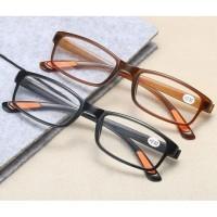 Kacamata Baca (Plus), Lensa +1 s/d +4, Sangat Ringan dan Lentur