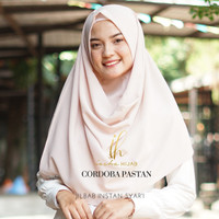 Jilbab Pashmina Instan pastan jilbab instan warna beige krem murah