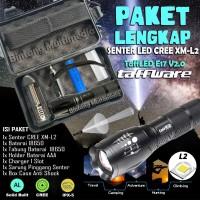PAKET Senter LED Cree XM-L2 Police SWAT TaffLED E17 TaffWare L2 Laser