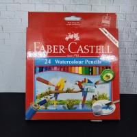 Watercolour Pencils Faber Castell 24 Warna - Panjang