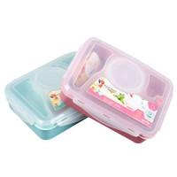 Yooyee Bento Box + Sendok 4 Sekat