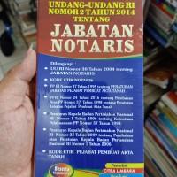 Undang-Undang RI NO 2 TAHUN 2014 TENTANG JABATAN NOTARIS