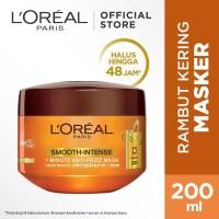 L'Oreal Paris Smooth Intense Hair Mask Hair Care - 200 ml (Untuk