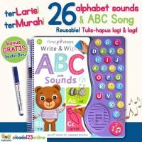 First Steps Write & Wipe ABC with Sounds/kado anak/kado buku/kadi unik