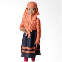 4 You Moslem Floral Dress Baju Muslim Anak - Size S