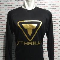 Jersey Sepeda Downhill atau Jersey Motocross motif Thrill gold