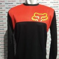 Jersey Sepeda Downhill atau Jersey Motocross motif warna merah kuning