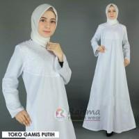Gamis Putih / Gamis Kombinasi Bordir / Gamis Umroh