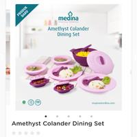 Amethyst Colander Dining Set