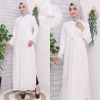 Gamis Putih Premium / Gamis Lebaran / Gamis Syari / Gamis Pesta 2777