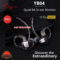 Cayin YB04 / YB 04 / YB-04 Quad BA In-Ear Monitor Earphones Original
