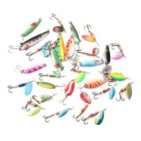 ZANLURE 30pcs Assorted Spinner Baits Metal Fishing Lures Fish Hooks 2