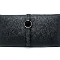 W12695 Dompet Purse Wallet Wanita Import - Hitam HOT SALE