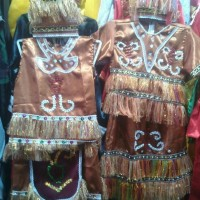 Pakaian adat anak baju papua saten Lk - Pr