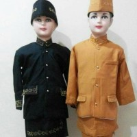 Baju adat anak sunda betawi anak L - 7-8 tahun, Maroon