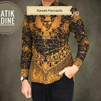 kemeja batik garuda pancasila terbaru | lengan panjang | baju batik