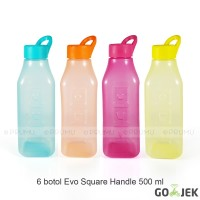 Gojek Botol Evo Square Handle 500ml- Botol Minum Anak - Suvenir Ultah