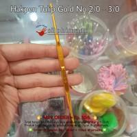 Hakpen Tulip Gold 2/0 - 3/0 ORI ( Crochet Hook / Hakken Rajut )