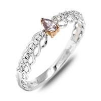 Cincin Fancy Diamond Purple 0.13 crt