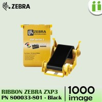 RIBBON BLACK PRINTER ZEBRA ZXP3 TINTA HITAM