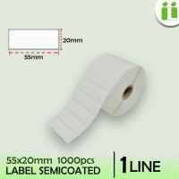 LABEL BARCODE SEMICOATED 55 MM x 20 MM ISI 1000 PCS MURAH
