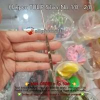 Hakpen Tulip Silver No. 1/0 - 2/0 ORI (Hakken Rajut, Crochet Hook)