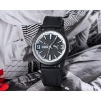 Jam Tangan Remaja Wanita / Anak Pria Puma SK50T Rubber Black White