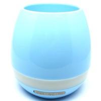 KS Flower Pot Vas Bunga dengan Speaker Bluetooth - Blue