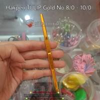 Hakpen Tulip Gold 8/0 - 10/0 ORI ( Crochet Hook / Hakken / Haken )