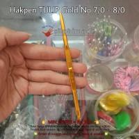 Hakpen Tulip Gold 7/0 - 8/0 (Hakken Rajut, Crochet Hook, Jarum Rajut)